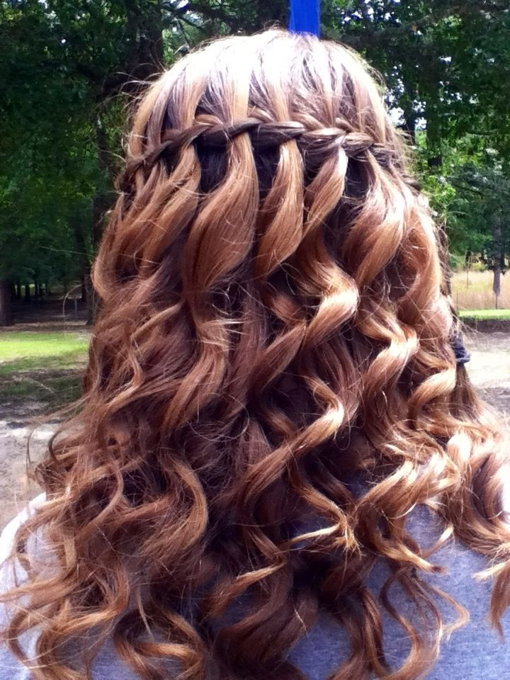 My curly waterfall braid braids pinterest curly hair style my curly waterfall braid ccuart Images
