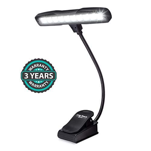 Rechargeable Clipon Music Stand Orchestra Light 10 Bright LEDs Last for 50 Hours on a Si