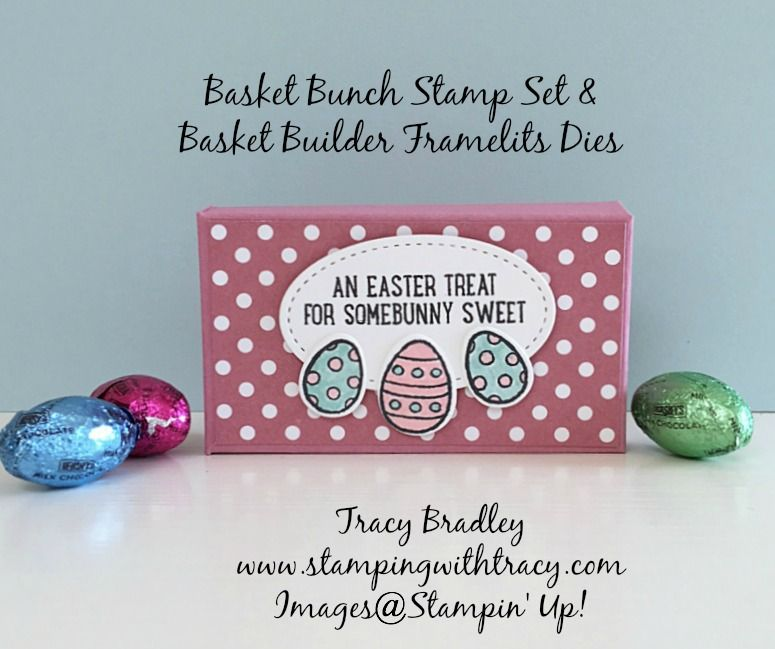 Bunny box stamped with Stampinu0027 Up Basket