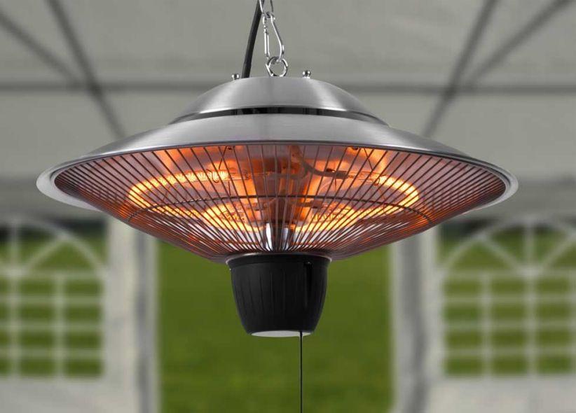 Estufa lampara infrarrojos grande estufas y terrazas for Lamparas para patios exteriores