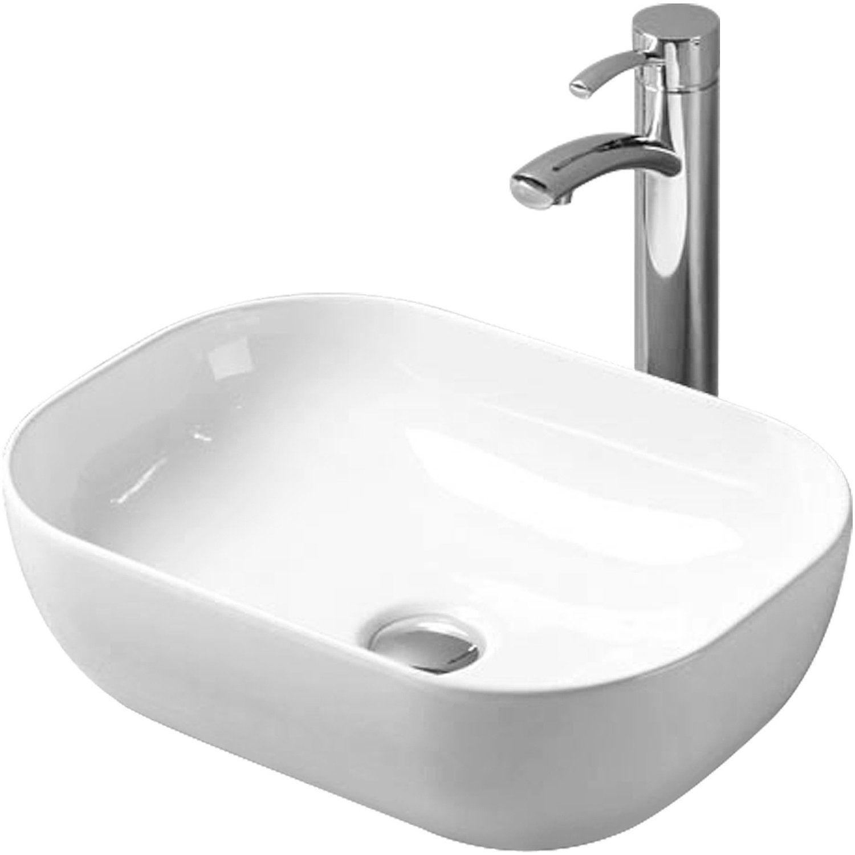 Sanicomfort Aufsatzwaschbecken Quadro 45 5 Cm Slim Design Oval Weiss