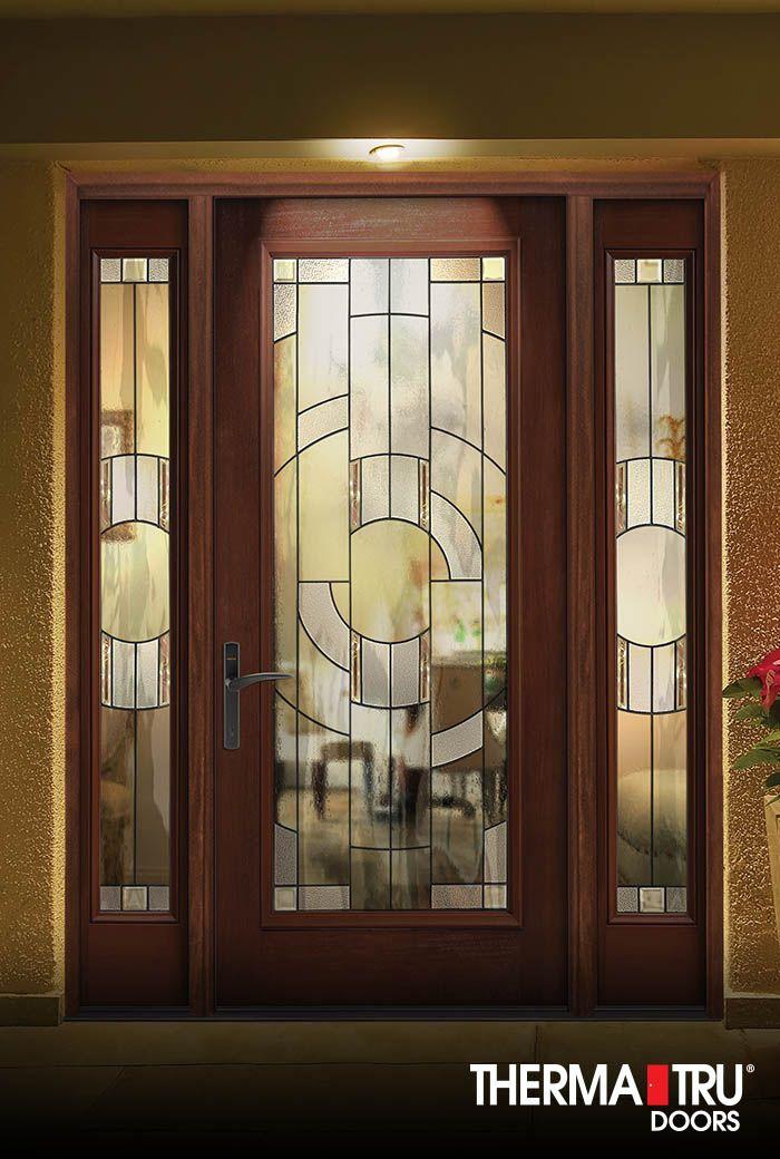 Decorative Glass Doors therma-tru smooth-star fiberglass door with sedona decorative