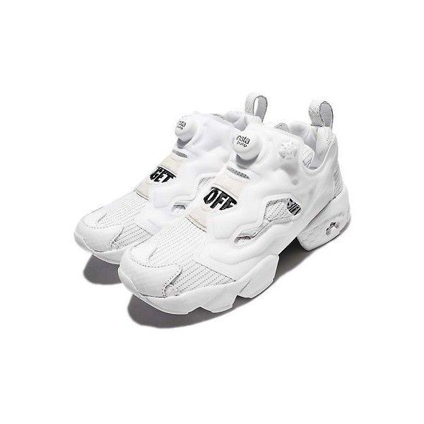 14a39e8f0103c1 Reebok Instapump Fury Sublim Get Off White Women Running Shoes... ❤ liked on  Polyvore featuring shoes