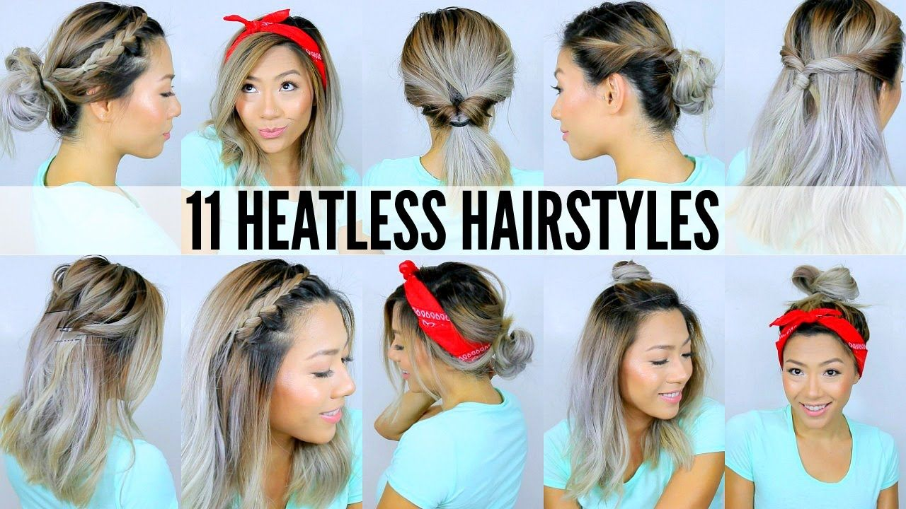 11 Easy Heatless Hairstyles For Short Long Hair Under Hairstyles Hair Short Easy Heatless Length L In 2020 Heatless Hairstyles Hair Styles Long Hair Styles