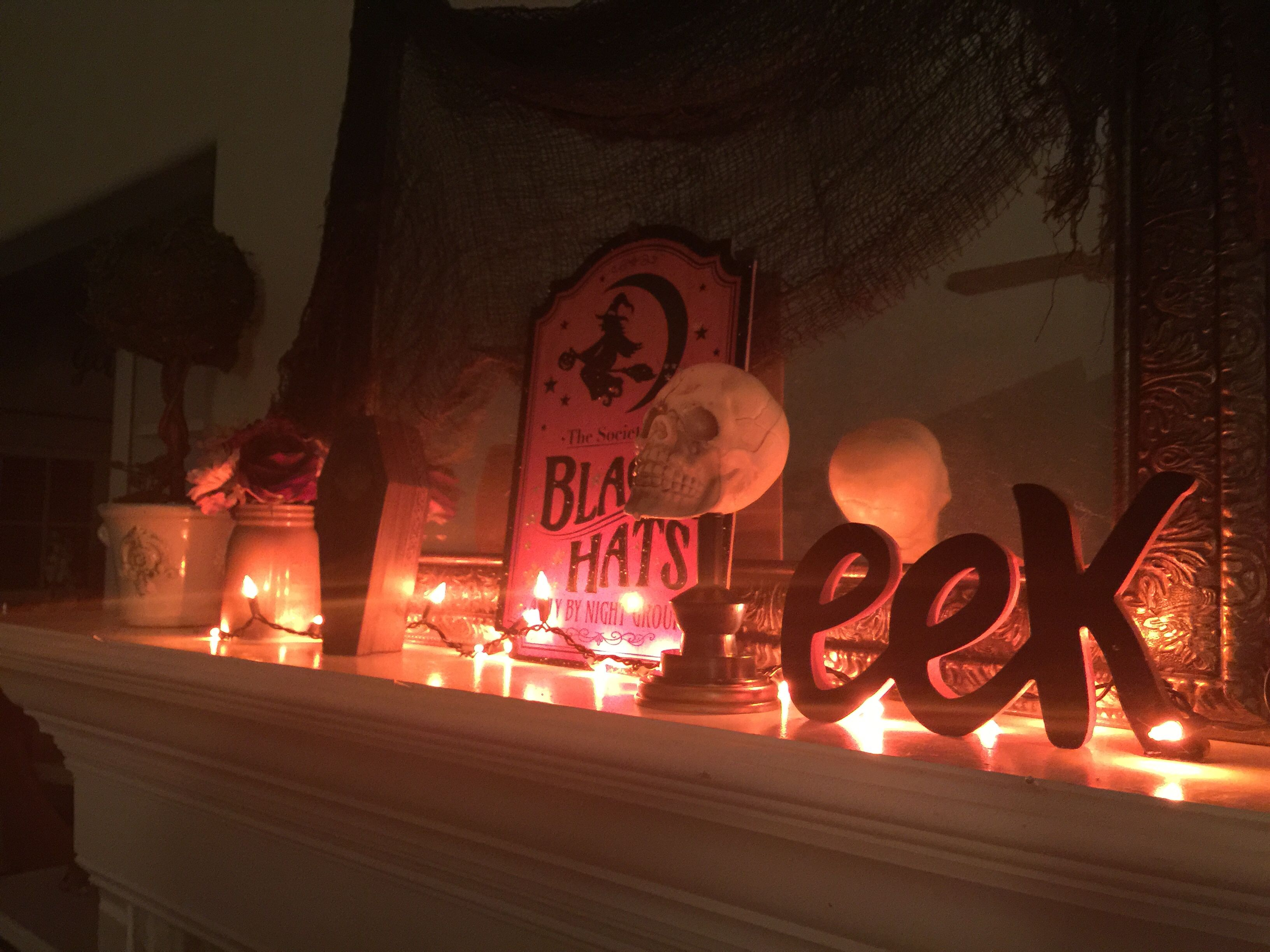 Lights, Creepy Fabric, Skulls, Coffin