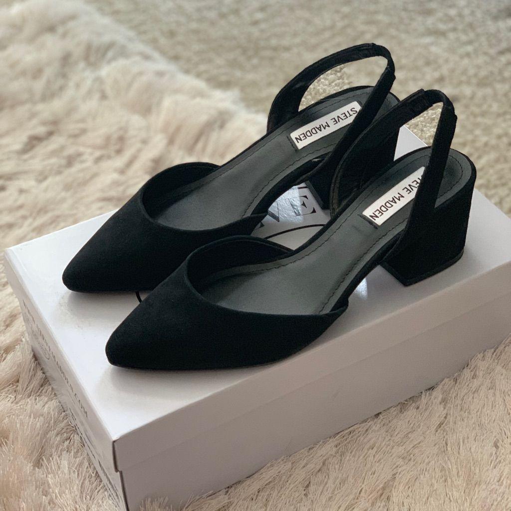 f00891303a0 Steve Madden Shoes | Steve Madden - Day Pump - Size 6 | Color: Black ...