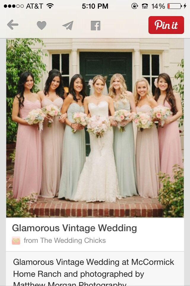 9380a33b6529b7 Bridesmaid dresses! Style and color thumbs up.