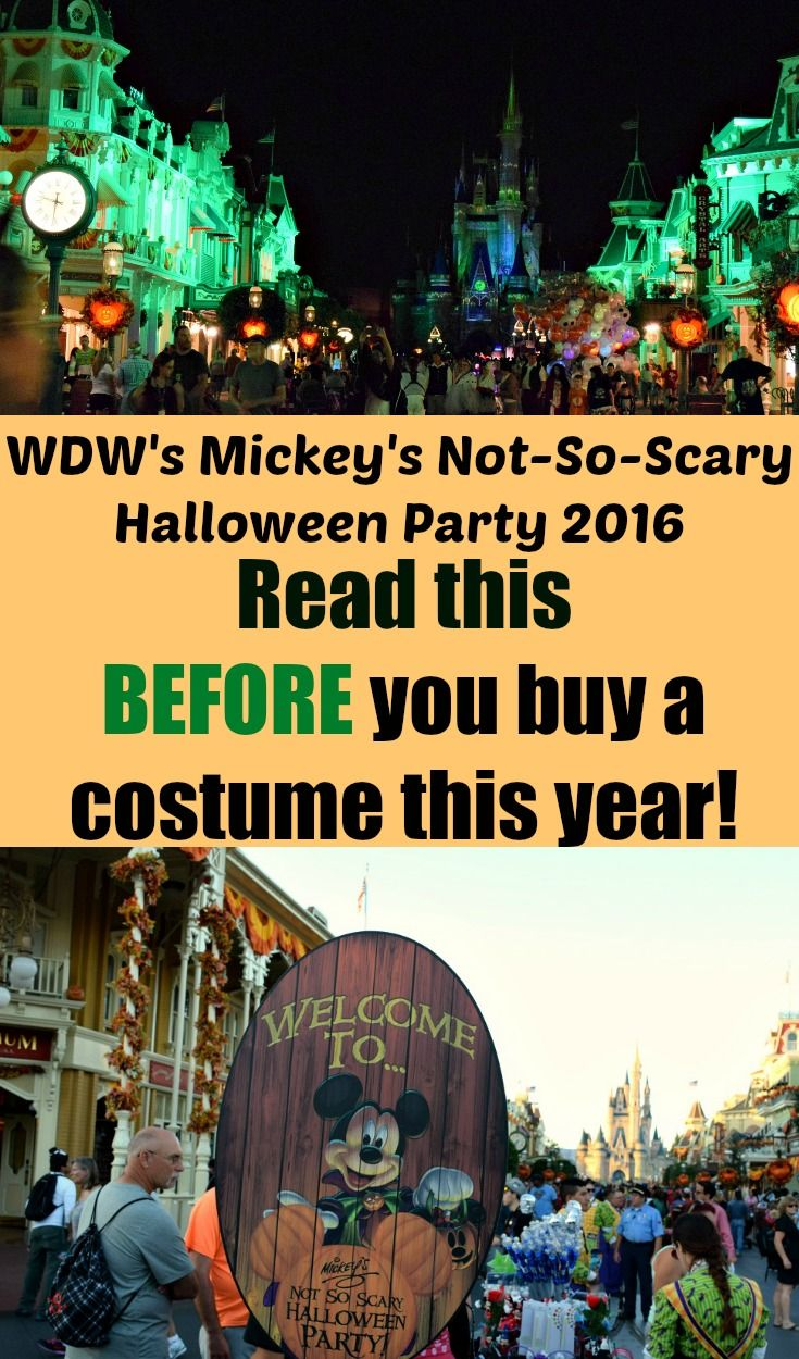 Mickey's Not-So-Scary Halloween Party: What's New for 2016 ...