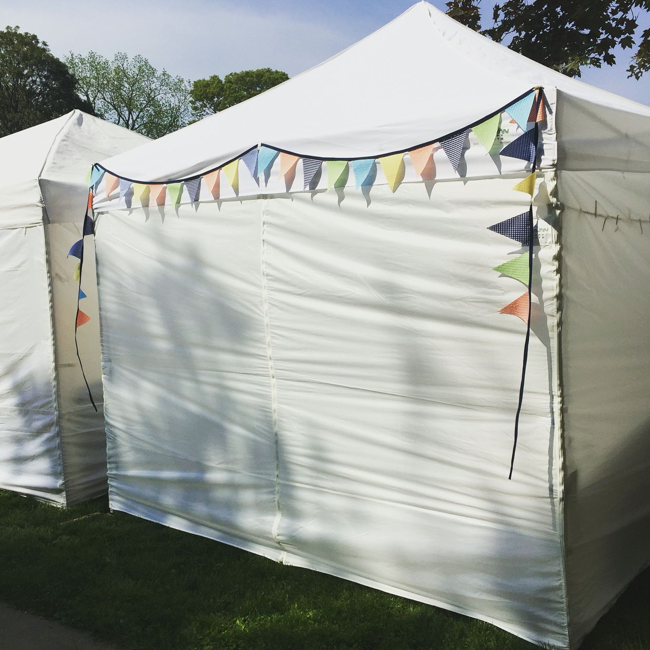 10x10 white canopy tent with pennant banner - craft show setup ideas & 10x10 white canopy tent with pennant banner - craft show setup ...