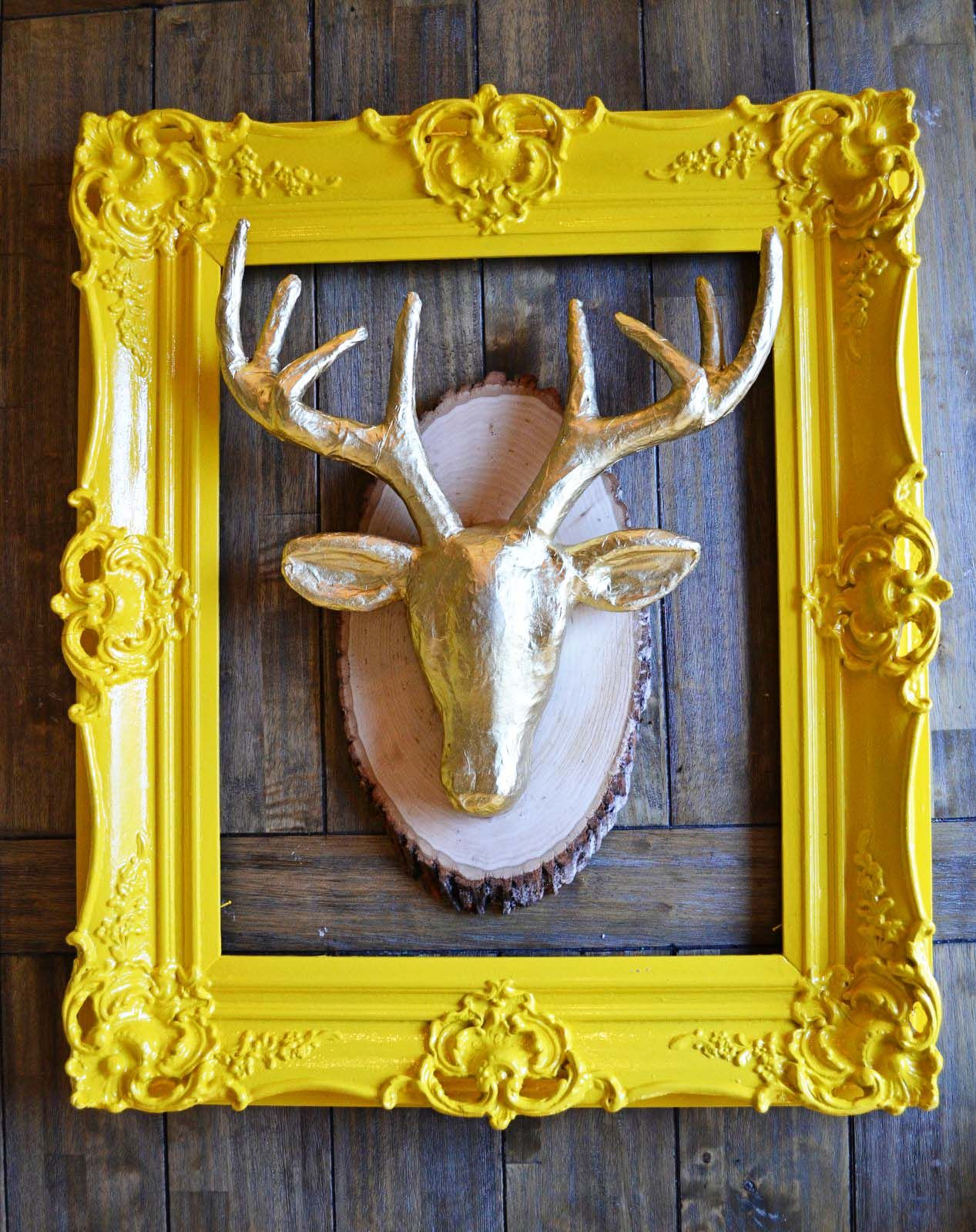 Quick DIY: Faux Gold Deer Bust | Do It Yourself Today | Pinterest ...