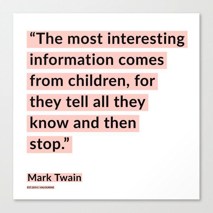 72  | Mark Twain Quotes 200908 Motivational Inspirational Inspiring Motivating Canvas Print by Wordz