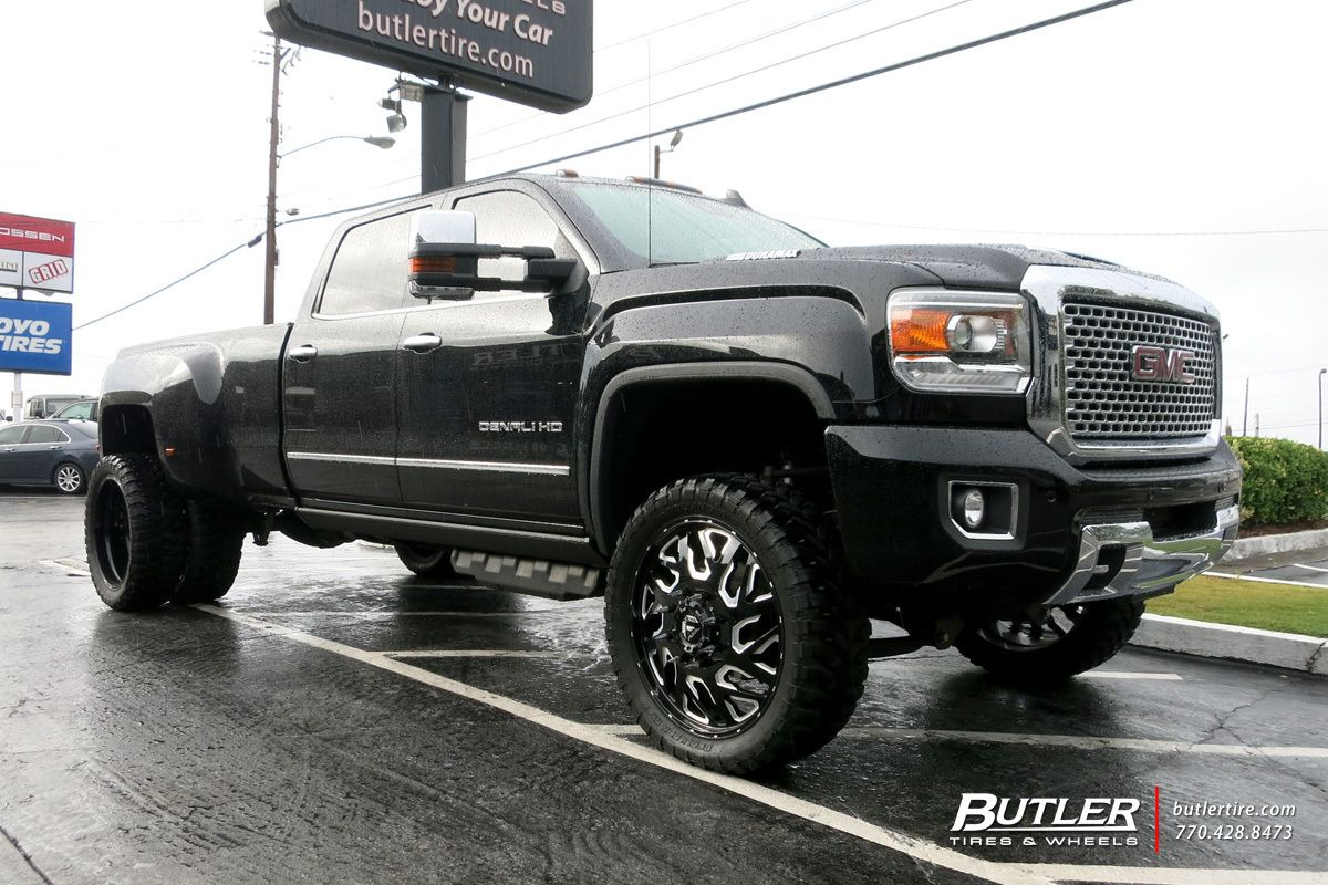 Gmc Denali Dually With 24in Fuel Triton Wheels Gmc Denali Gmc
