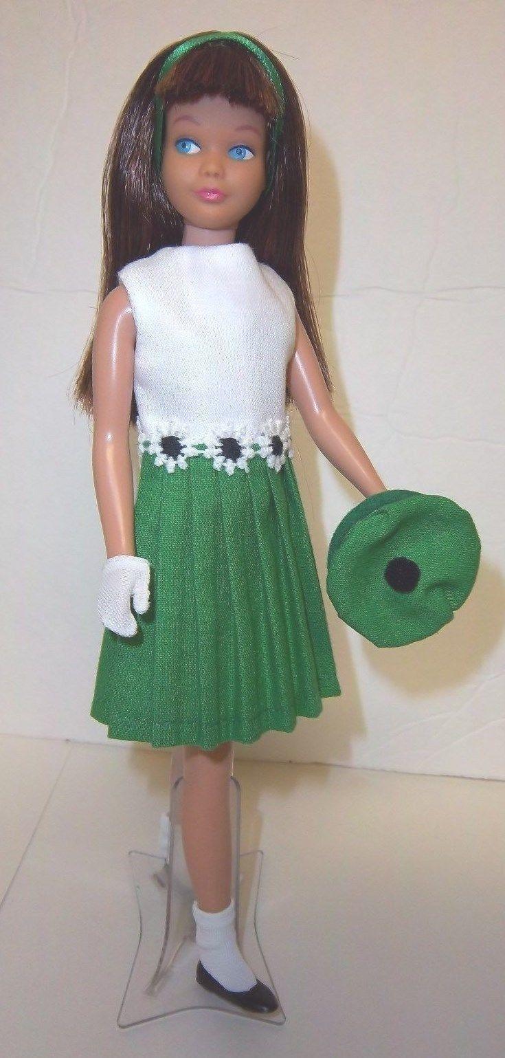 Vintage Barbie Skipper Mod 1960s Style Dress Sock Hat Shoes Gloves Hanger Ooak Ebay Vintage Barbie Clothes Vintage Barbie Dolls Vintage Barbie