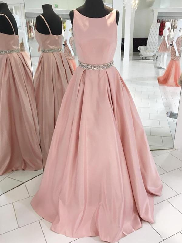 Gorgeous A-line Pink Long Prom Dress Ball Gown | Pinterest ...