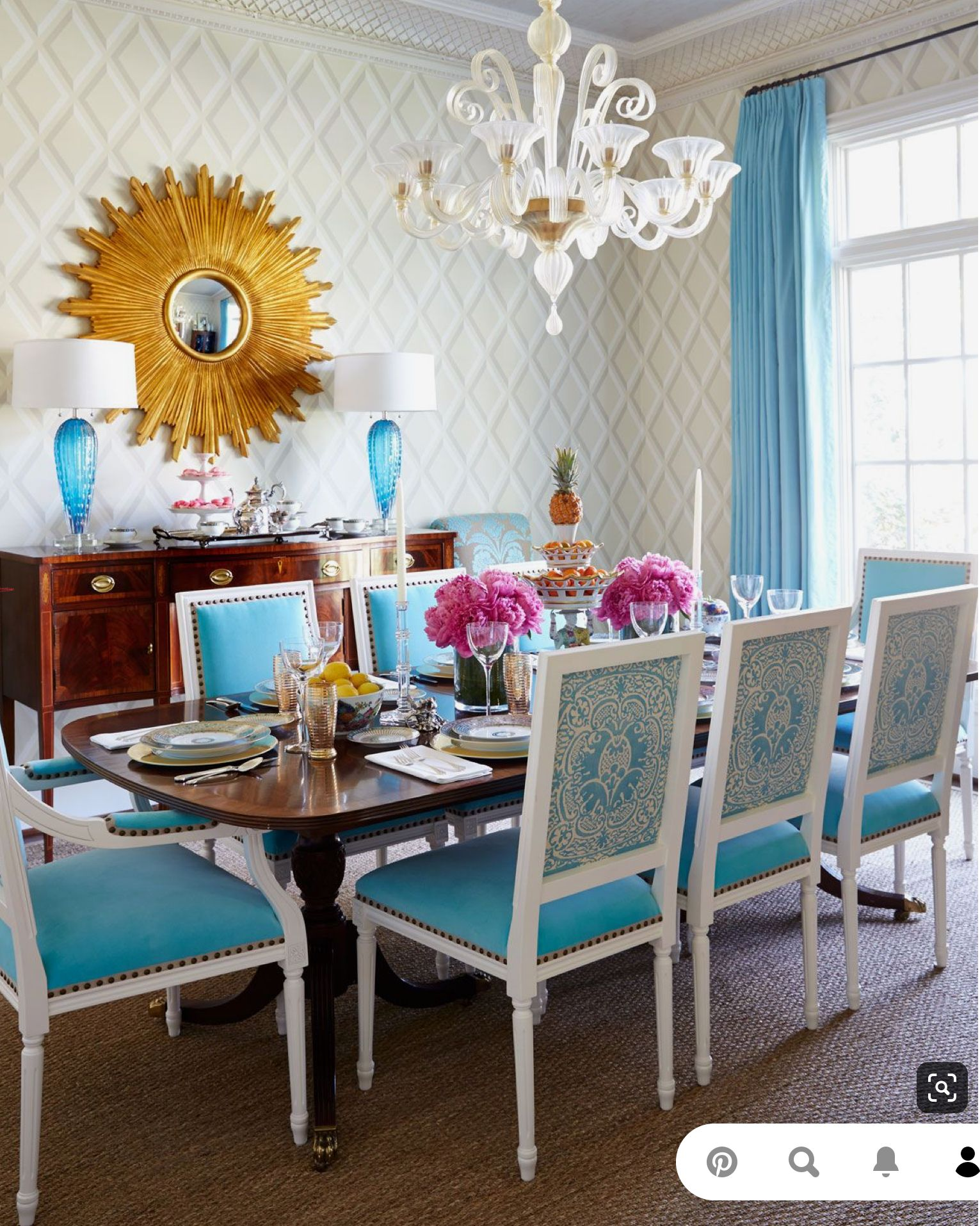 Pin By Elizabeth Sokol On Chairs Dining Room Teal Turquoise Living Room Decor Dining Room Contemporary