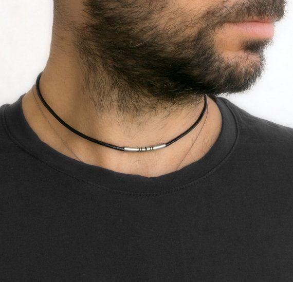 Men S Necklace Men S Choker Necklace Men S Leather Necklace Men S Jewelry Men S Gift