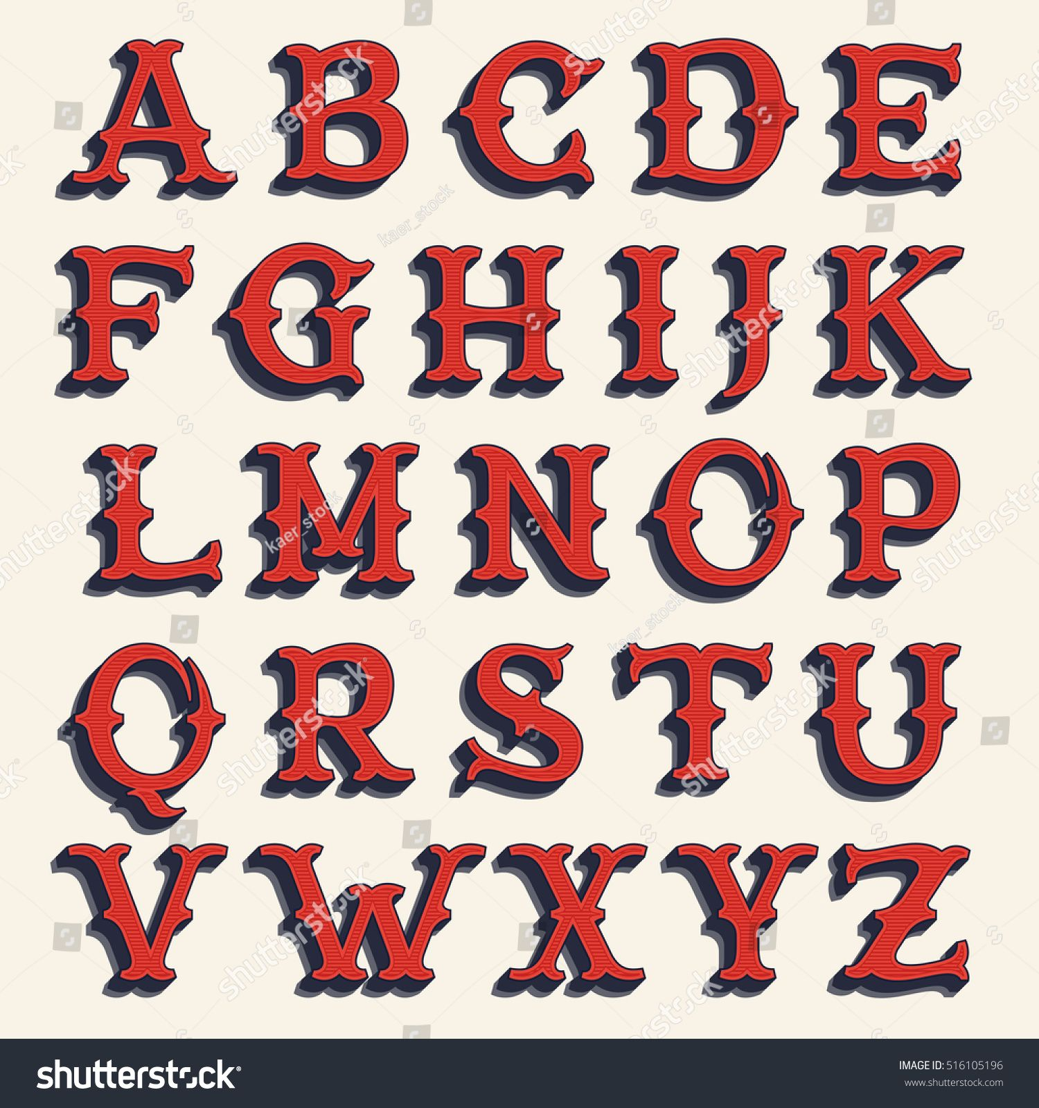 Retro Alphabet Vintage Western Style Volume Typeface Vector Font For Labels Posters Etc Lettering Fonts Vintage Fonts Alphabet Lettering Alphabet