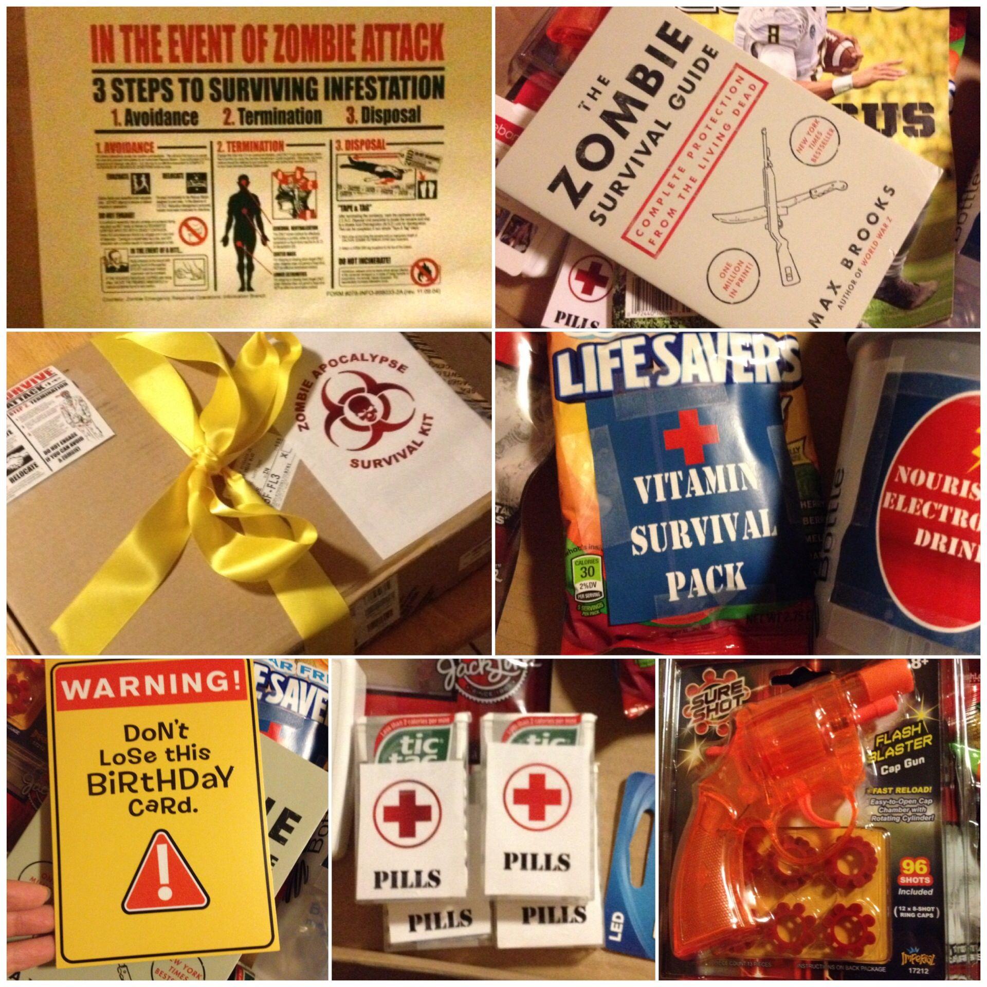 Zombie Apocalypse Survival Kit For My Nephew