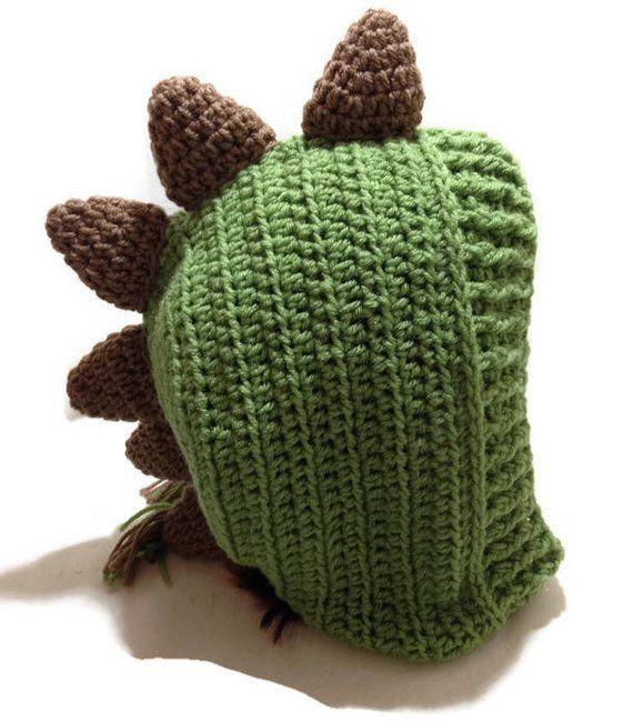 Crochet Dinosaur Pattern, Dinosaur Hood Pattern, Dino Hat Pattern, DIY Halloween Costumes, Spiked Di #crochetdinosaurpatterns