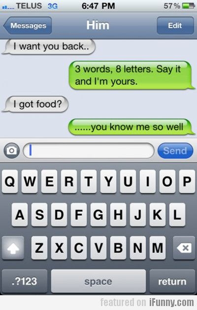 3 Words, 8 Letters. Say It And I'm Yours. | Crafts | Funny texts