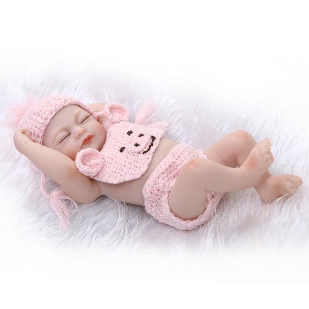 10inch Baby Dolls Handmade Full Vinyl Silicone Real Newborn Girl Doll Reborn Toy Reborn Dolls Dolls Bears