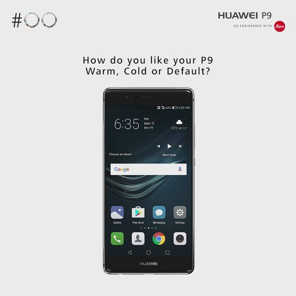 Adjust the #display colour #temperature of your #HuaweiP9 according