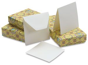 Blank square cards from Blick art supplies