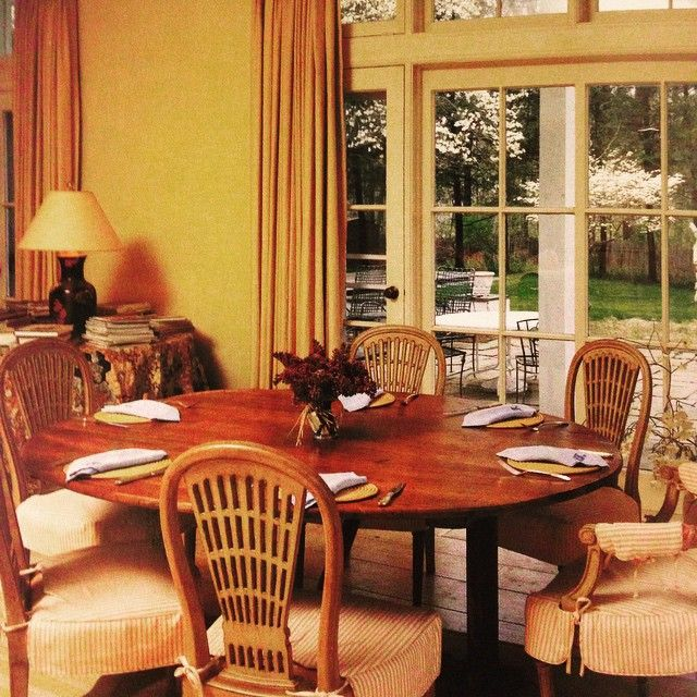 Jacqueline Kennedy Onassis' Dining Room In Peapack, New