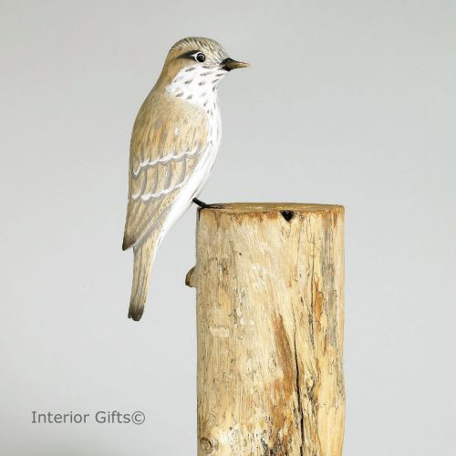 Archipelago Flycatcher Bird Wood Carving Archipelago Bird Wood