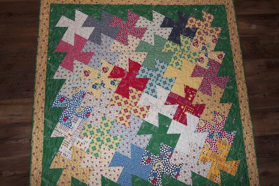 School Days Pinwheels Quilt by DebsQuiltWorld on Etsy, $159.99