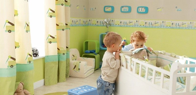 Kinderzimmer junge wandgestaltung grün  fantasyroom babyzimmer und kinderzimmer in grün einrichten und ...
