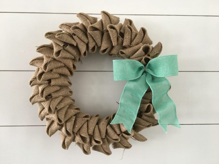 Photo of Spring Burlap Wreath – Find it, Make it, Love it