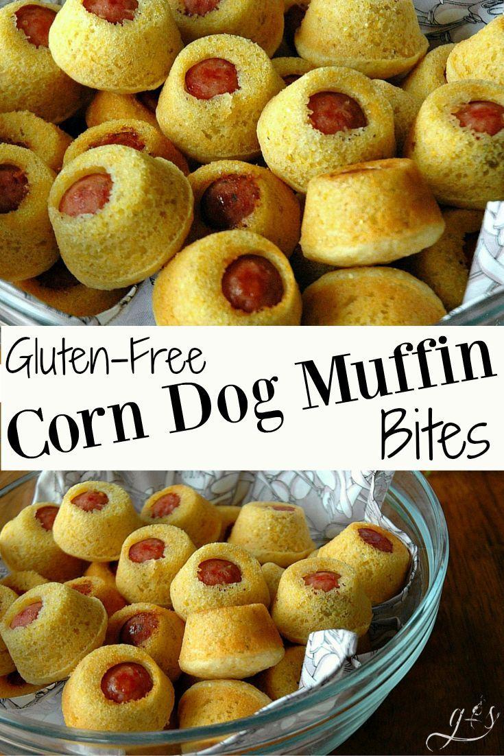 GlutenFree Corn Dog Muffin Bites Recipe Corn dog