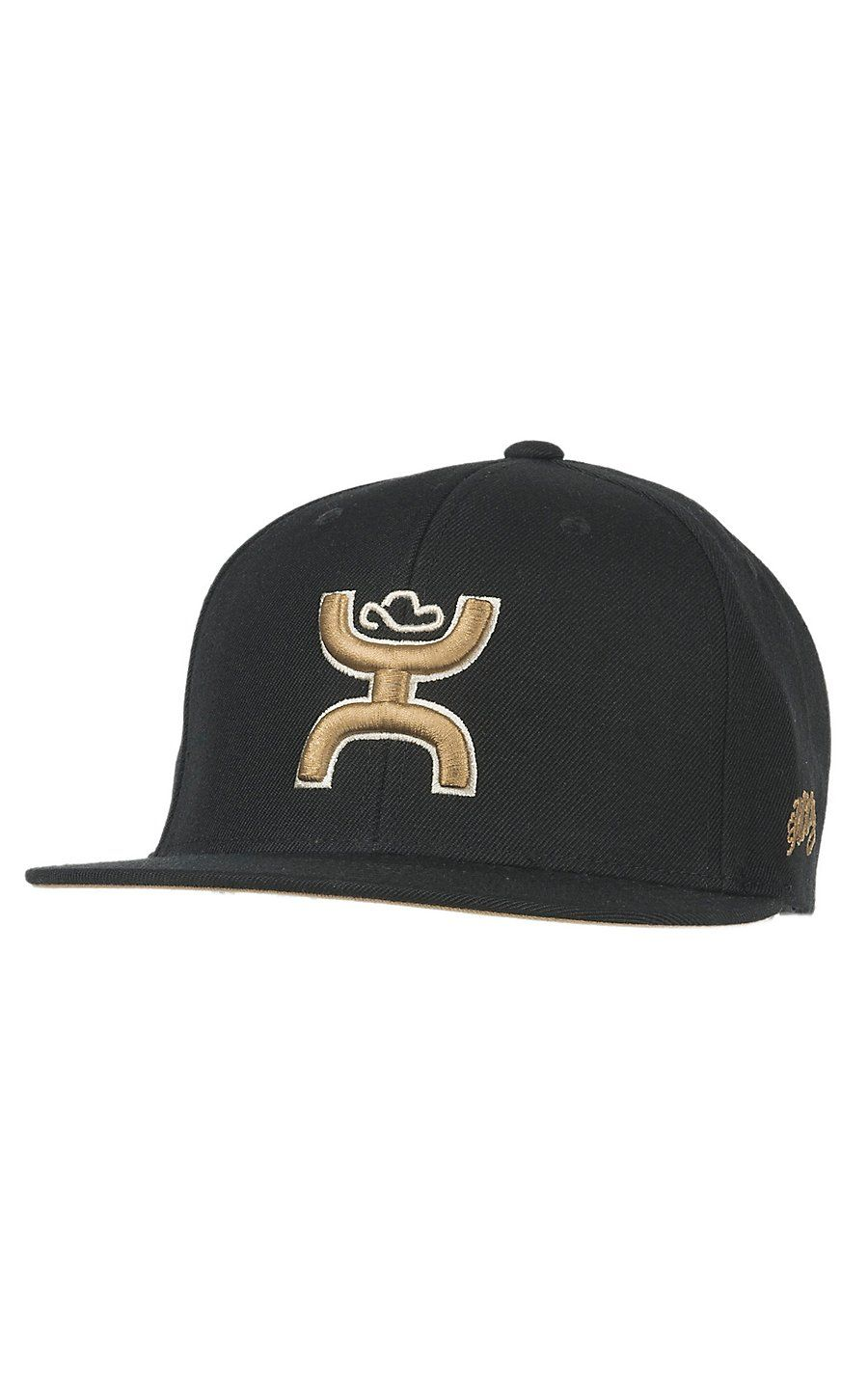 820151fa9e814d HOOey Catcus Ropes Black with Gold Hands Up Logo Snap Back Cap | Cavender's