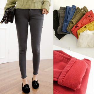 Buy '45SEVEN – Cotton Blend Skinny Pants' with Free International Shipping at YesStyle.com. Browse and shop for thousands of Asian fashion items from South Korea and more!