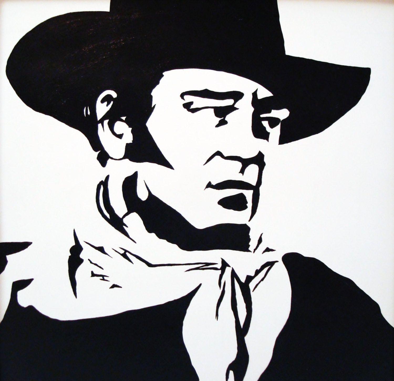 John Wayne Stencil//Template Reusable 10 mil Mylar Stencil