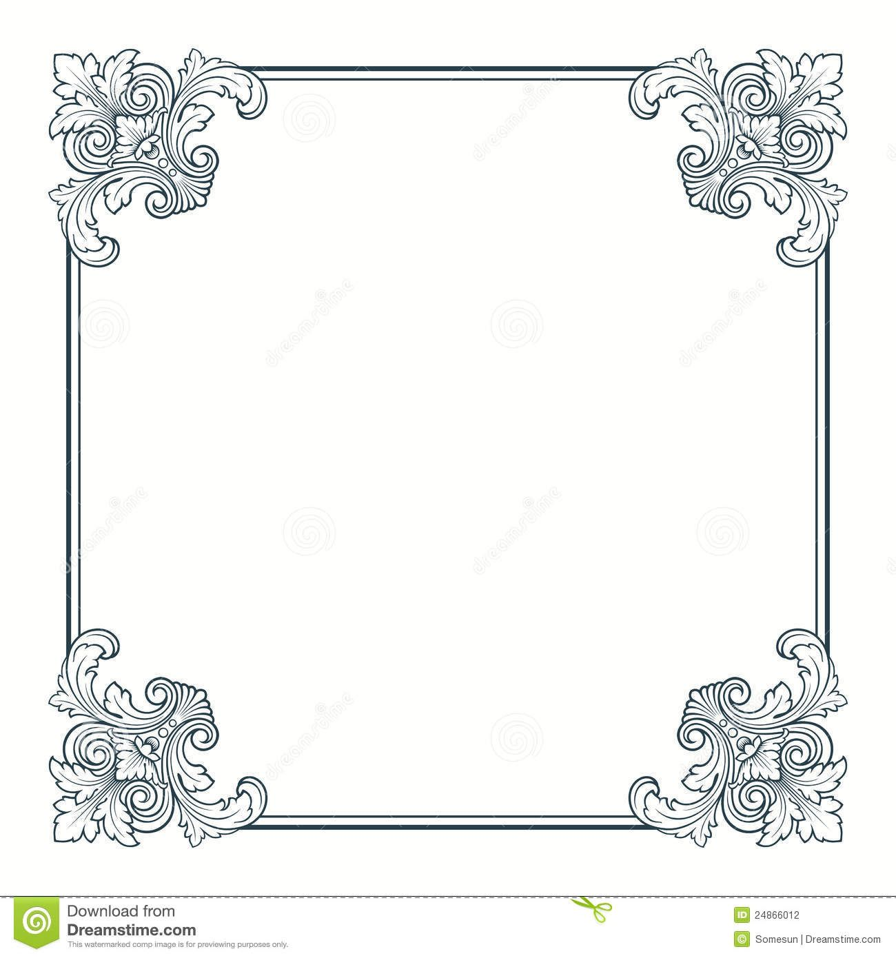 vector calligraphic ornate vintage frame border download