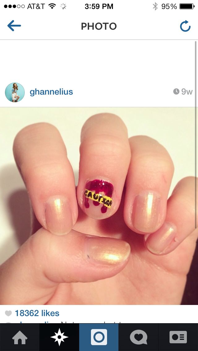 Halloween nails by g hannelius | Ghannelius and Francesca Capaldi ...