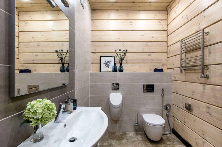 Holzverkleidung Von Wand Und Decke Im Bad Home Design Ideas