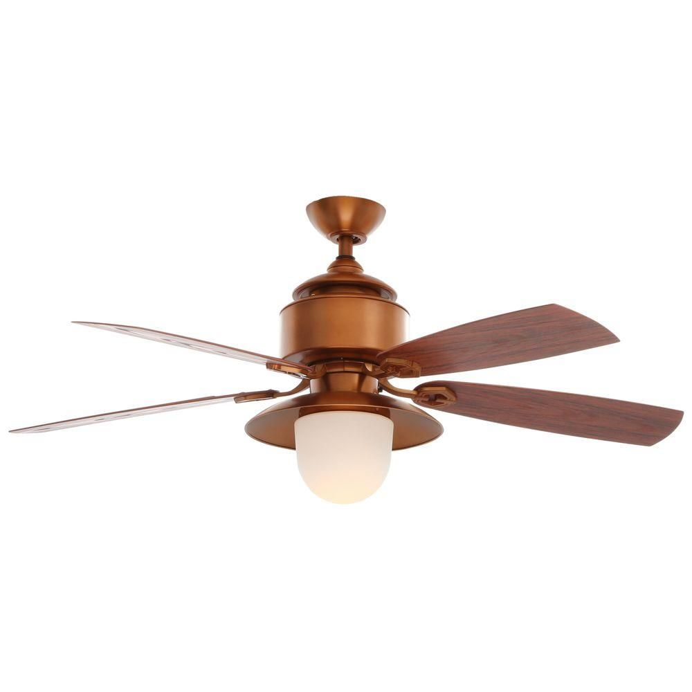 Hampton Bay Copperhead 52 In Indoor Outdoor Weathered Copper Ceiling Fan With Light Kit And Wall Control Ag909od Wc Copper Ceiling Fan Ceiling Fan Rustic Ceiling Fan