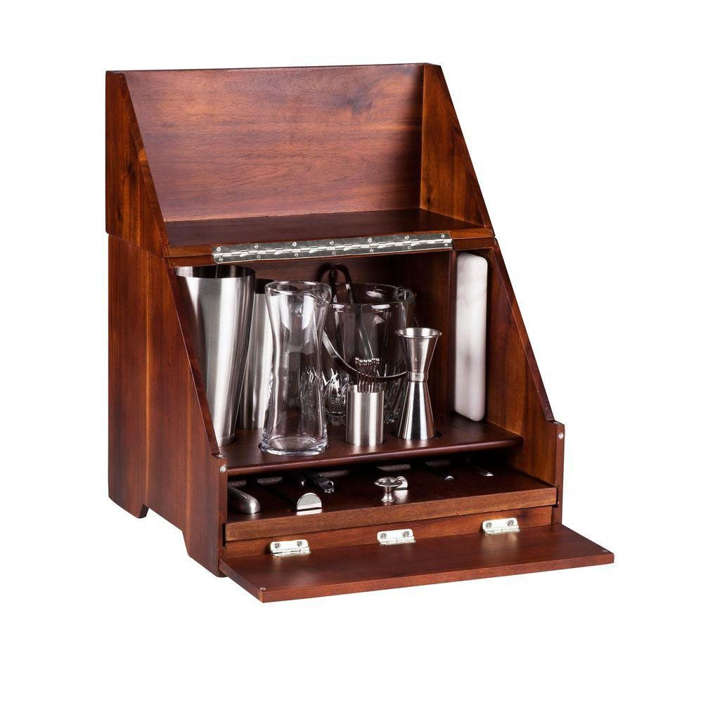 madison wooden tabletop bar tool set 20 pieces