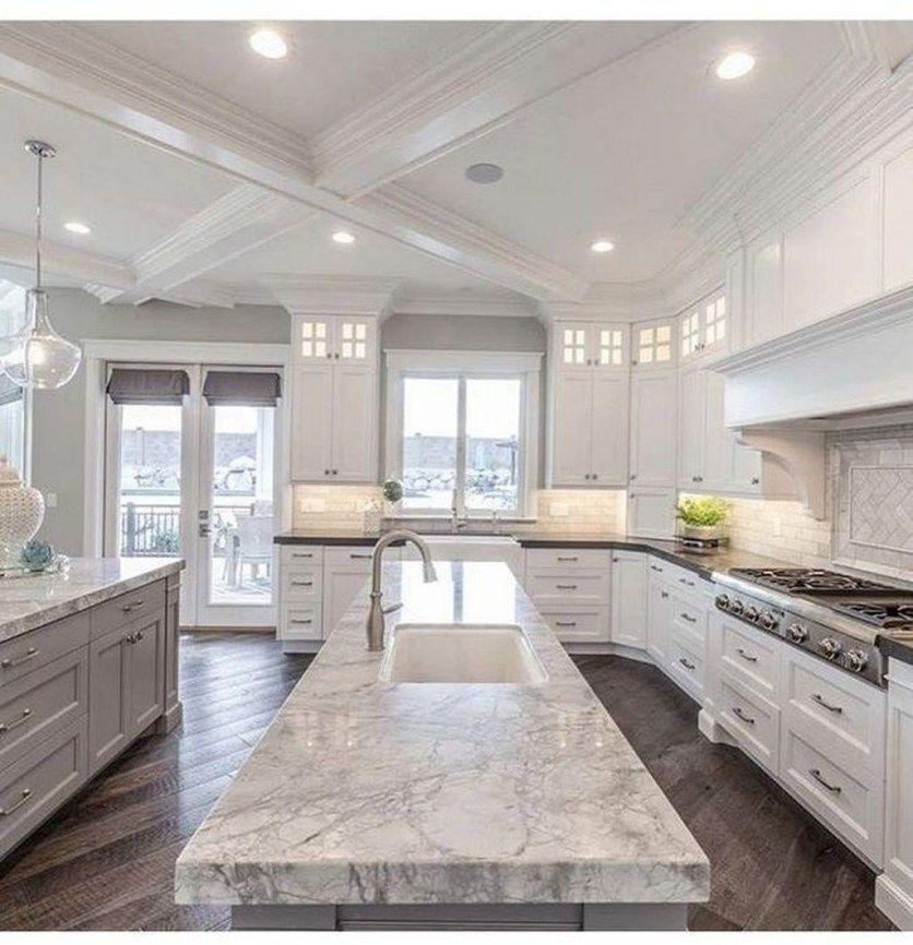 Fancy White Kitchen Design And Décor Ideas That Looks Cool27 White Kitchen Design Luxury Kitchens Luxury Kitchen Design