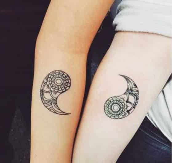 Tatuaje Pareja Ying Yang Sister Tattoos Matching Tattoos