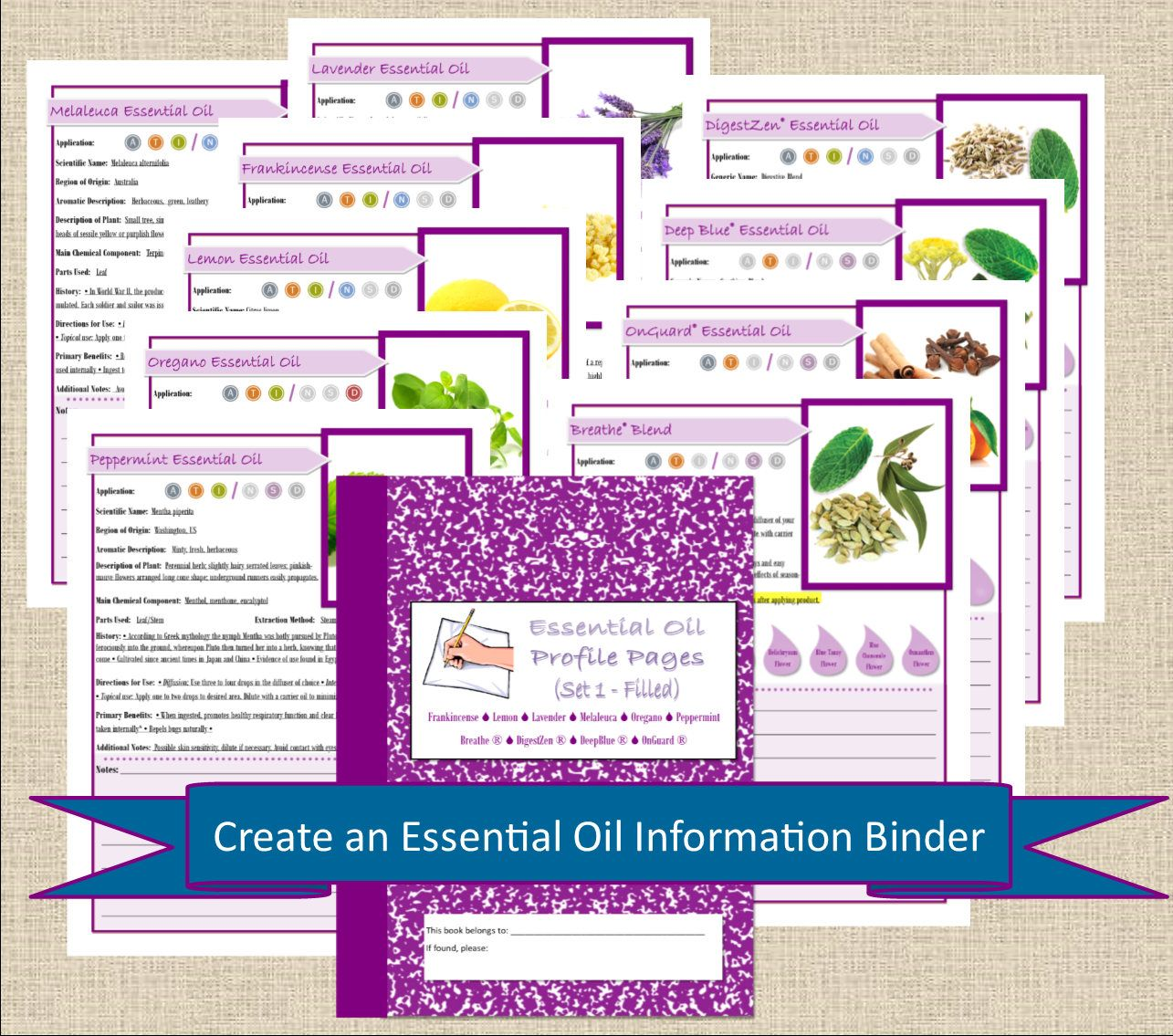 Doterra Filled Printable Essential Oil Book Pages
