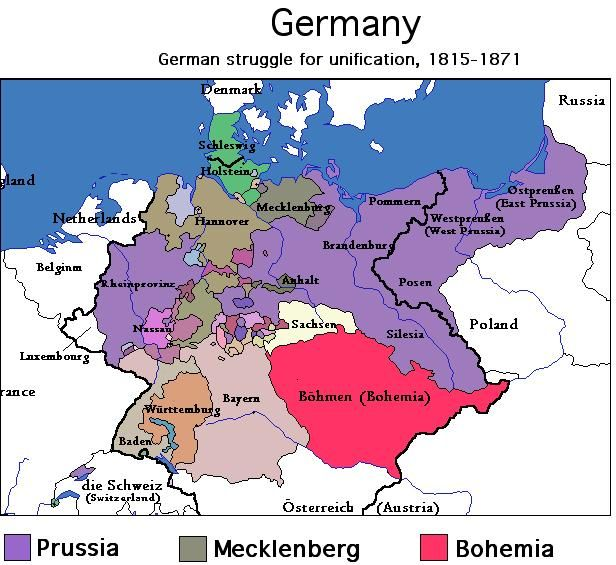 Immigration From Baden Germany Map Of Germany And Provinces - Germany map provinces