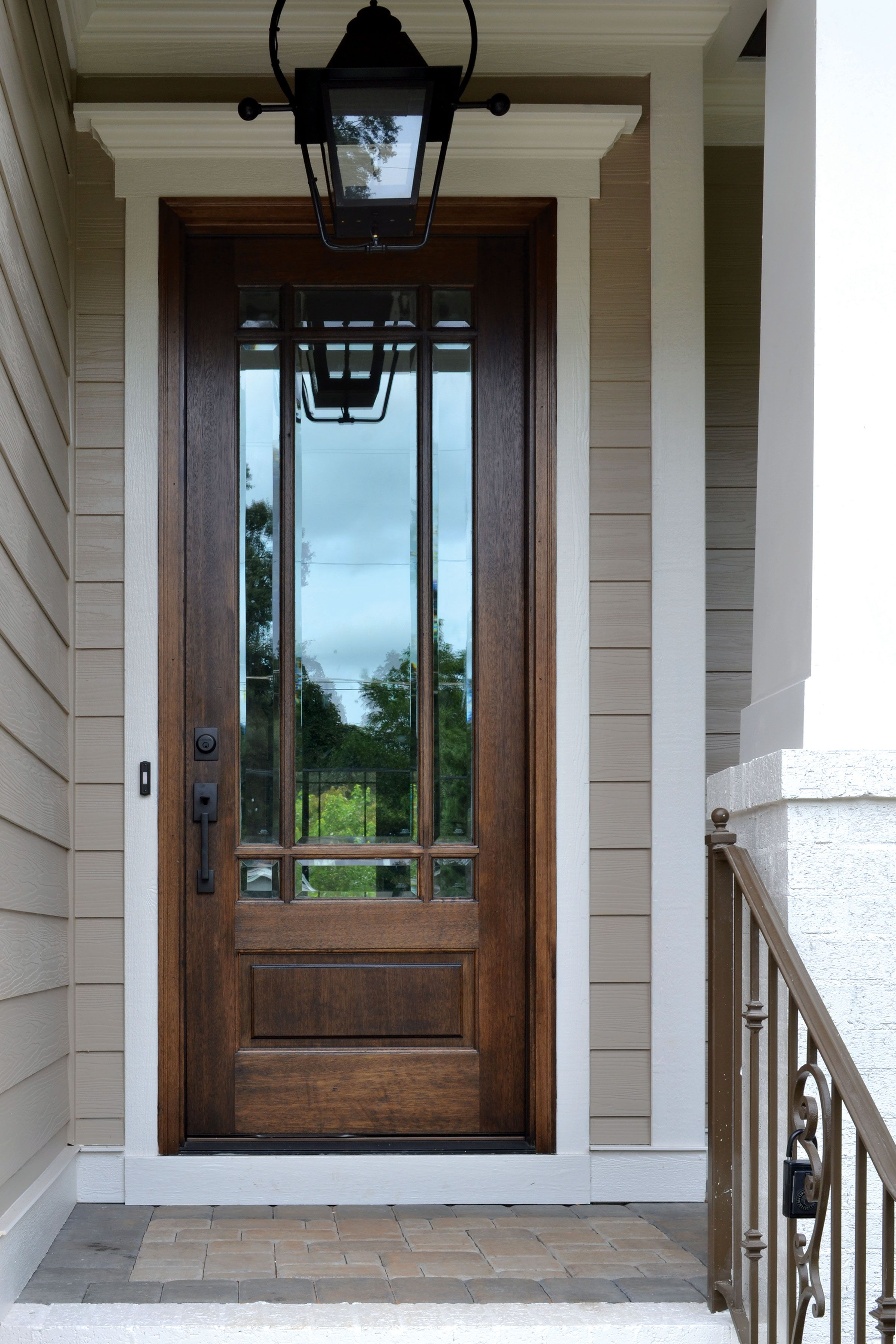 Alexandria TDL 9LT 8/0 Door With Clear Beveled Glass