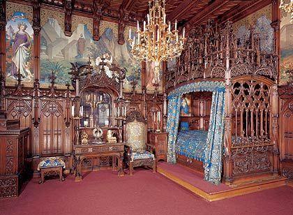 Schloss Neuschwanstein - Schlafzimmer Des Königs | German Castles ... Ludwig Xiv Schlafzimmer