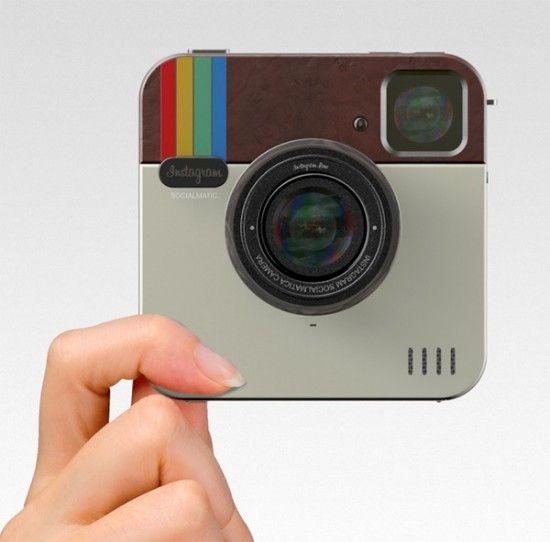 """Polaroid comercializará la cámara digital Socialmatic, que lleva el """"prototipo de Instagram"""" a un dispositivo físico, se lanzará en 2014 y permitirá los mismos filtros de la aplicación e imprimir las fotos al instante."""