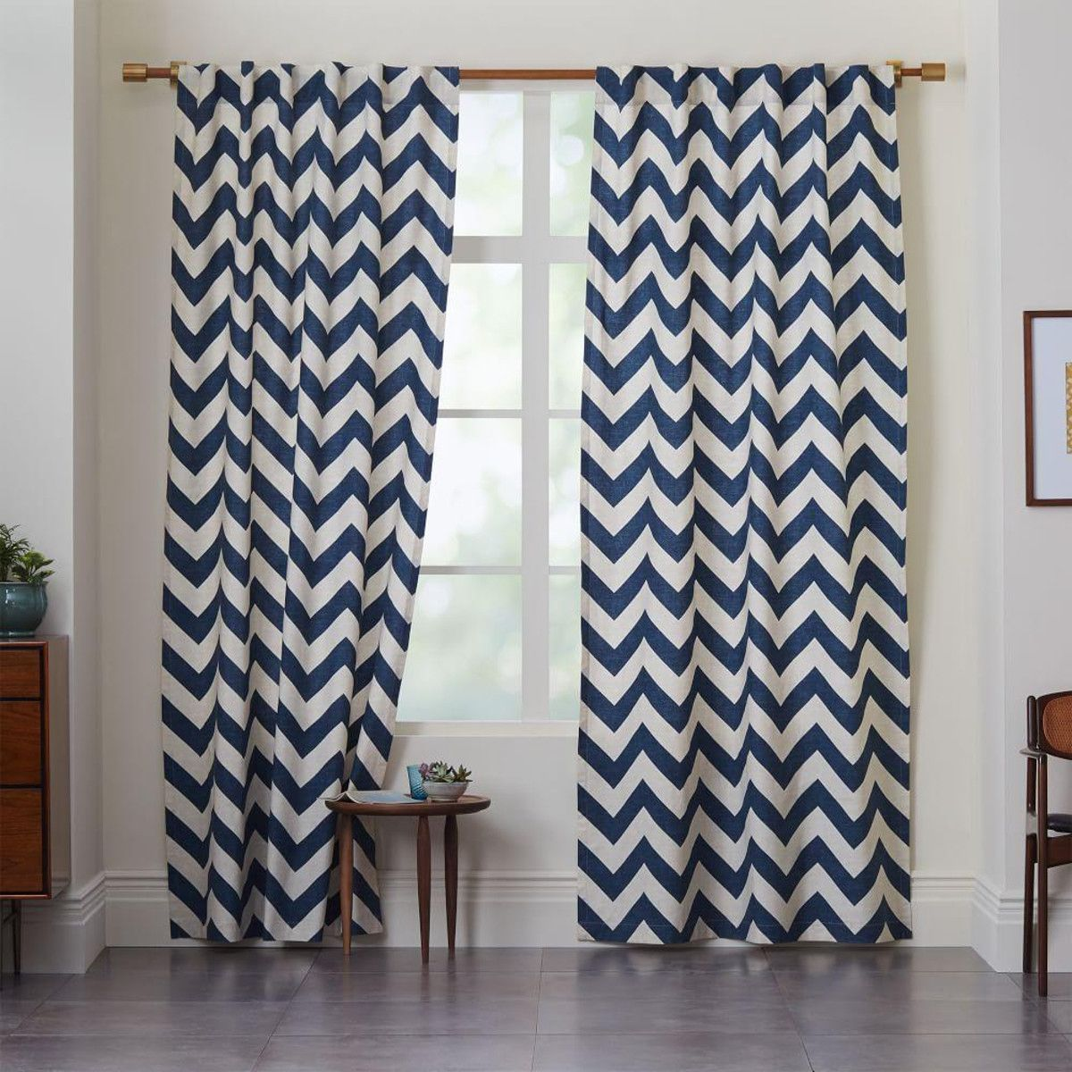 West Elm Chevron Curtains In Blue Lagoon Pink Bedroom Decor Home Decor Canvas Curtains