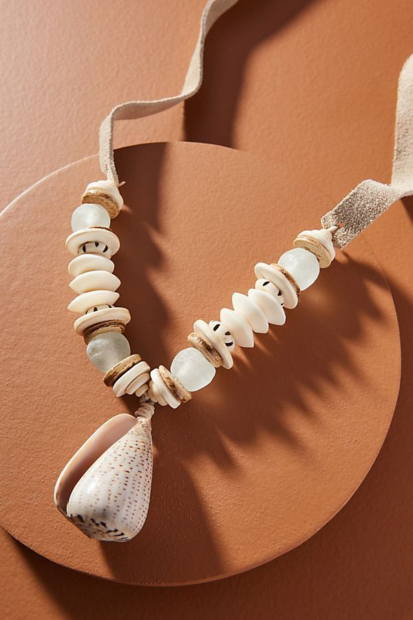 Twine & Twig Shell Pendant Necklace | Shell pendant ...
